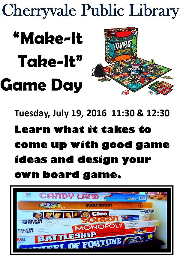 Make-It Take-It Game Day - Session 1