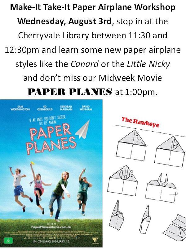 Make-It Take-It Paper Airplane Workshop