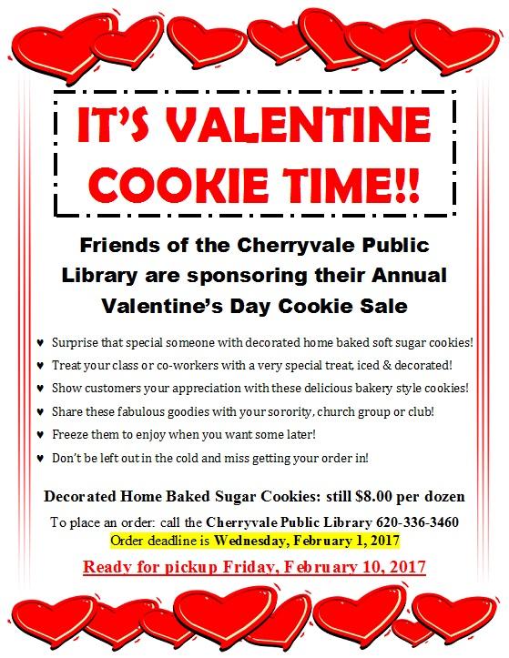 Valentine Cookie Sale
