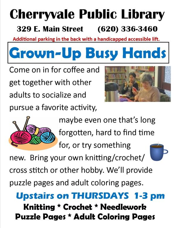 Grown-up Busy Hands Poster