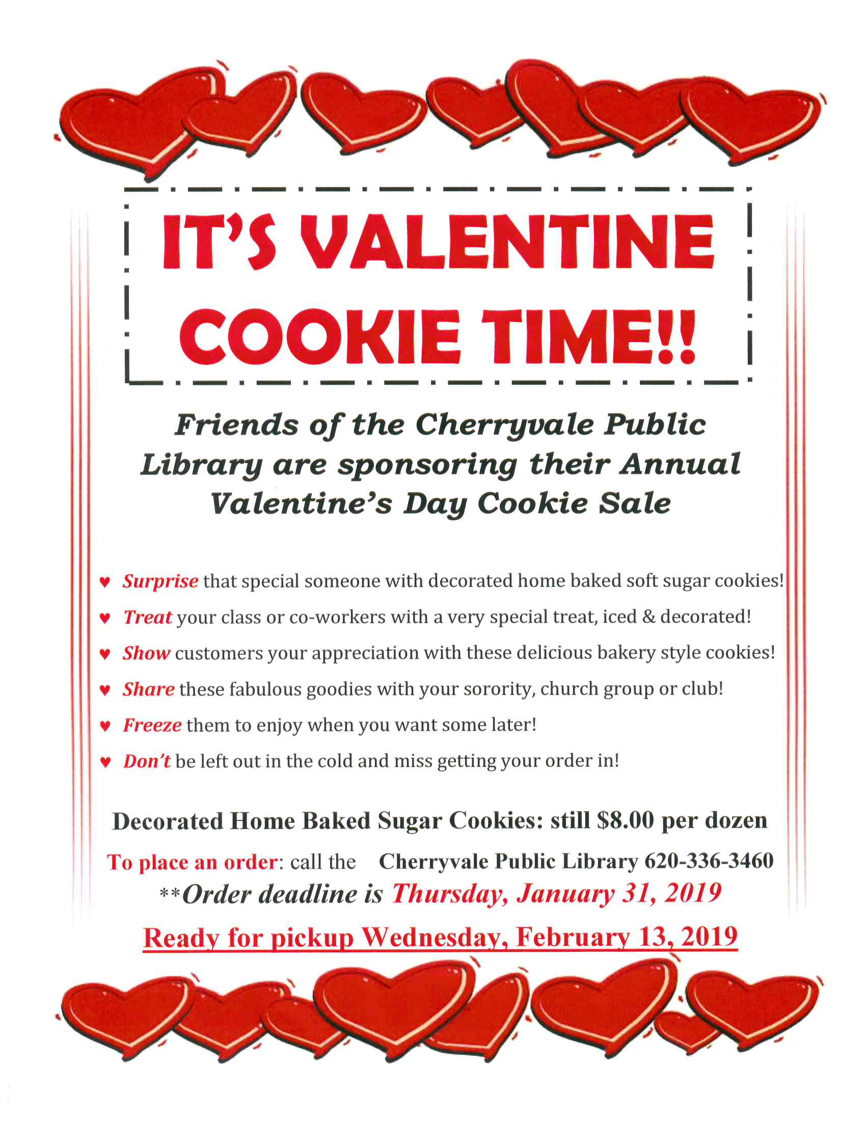 Valentine Cookie Sale